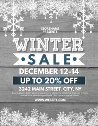 WINTER SALE Ulotka (US Letter) template