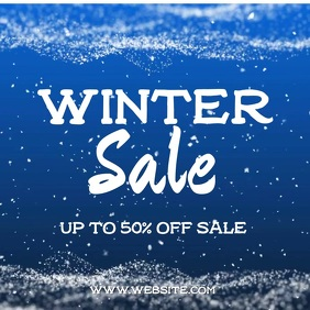 Winter Sale Square (1:1) template
