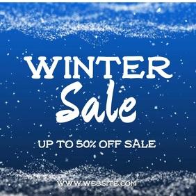 Winter Sale Square (1:1) template