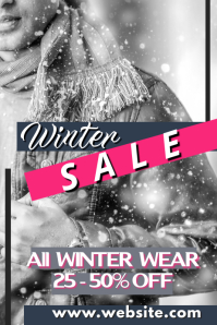 Winter Sale Póster template