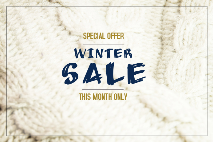 winter sale discount knitting poster