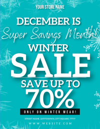 WINTER SALE EVENT FLYER Template ใบปลิว (US Letter)