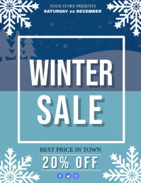 Winter Sale Event Flyer Template