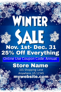 Winter Sale Event Flyer