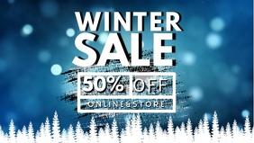 Winter Sale Facebook Cover Video Template