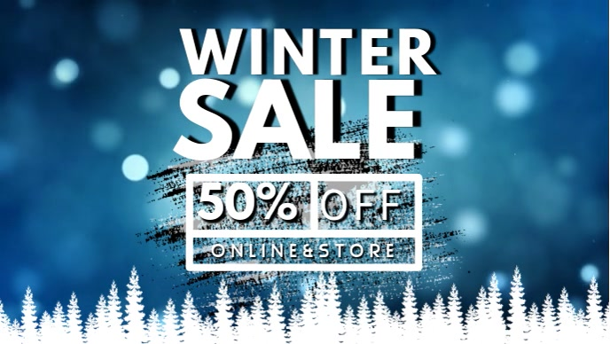 Winter Sale Facebook Cover Video Template Facebook-omslagvideo (16: 9)