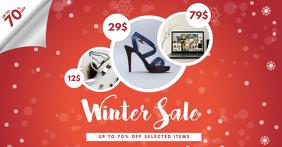Winter Sale Facebook template