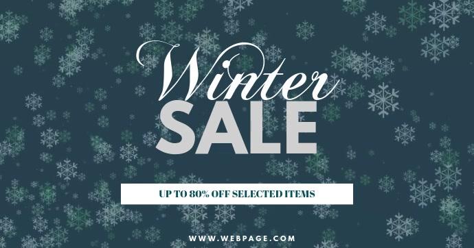 Winter Sale Facebook Post Template