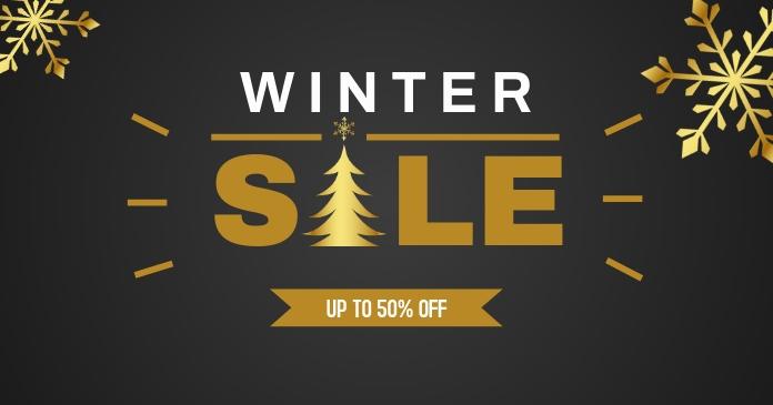 Winter Sale Facebook shared image template