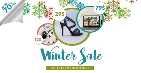 Winter Sale Facebook Video Post template
