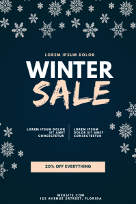 Winter Sale Flyer Design Template Poster