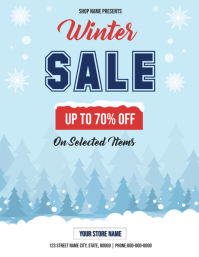 Winter Sale Flyer Рекламная листовка (US Letter) template