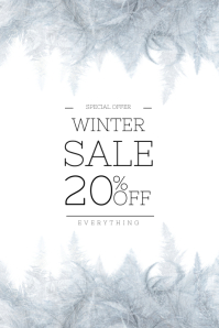 Winter Sale Flyer Design Template
