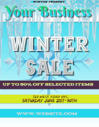 WINTER sale FLYER POSTER TEMPLATE
