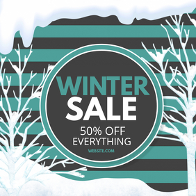 winter sale Portada de Álbum template