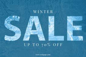 Winter Sale Flyer Template
