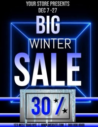 Winter Sale Flyer VIDEO AD TEMPLATE
