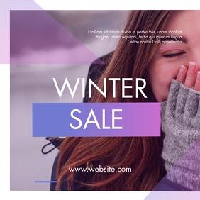 winter sale instagram post advertisement template