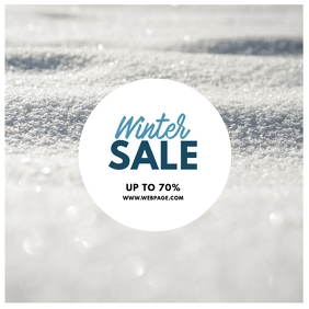 Winter sale instagram post template Instagram-bericht