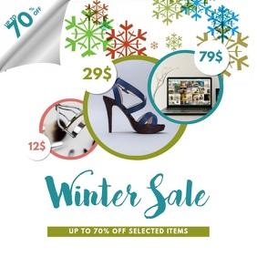 Winter Sale Instagram Post video template