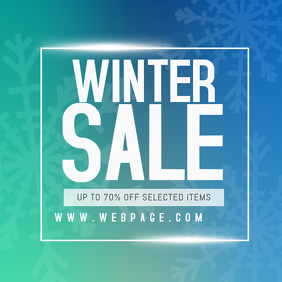 winter sale instagram promotion post template