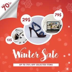 Winter Sale instgram post Template