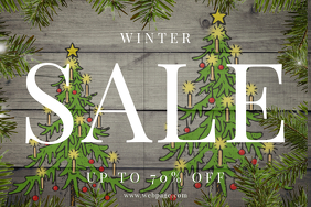 Winter Sale Landscape Flyer template