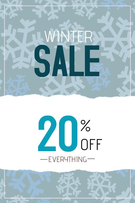 winter sale poster portrait