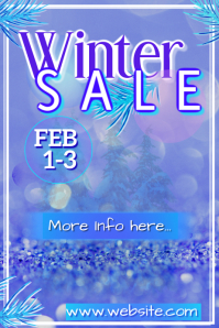Winter Sale Poster Cartaz template
