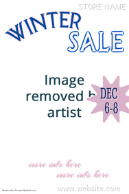 Winter Sale Poster