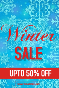 WINTER SALE POSTER FLYER TEMPLATE