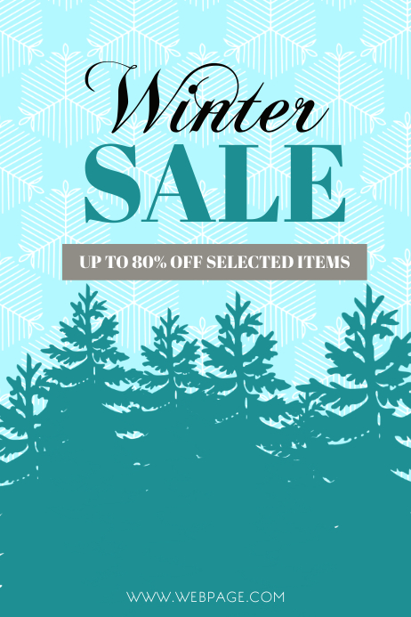Winter Sale Flyer Template