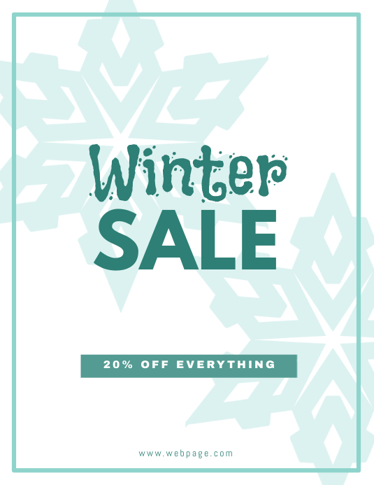 Customizable Design Templates For Winter Flyer Template  Postermywall