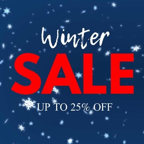 Winter Sale Promotion retail Shopping Advert