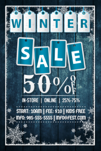 Winter Sale Retail Snow Ad X-Mas Black Friday Holiday Tags