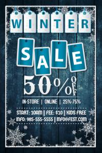 Winter Sale Retail Snow Ad X-Mas Black Friday Holiday Tags