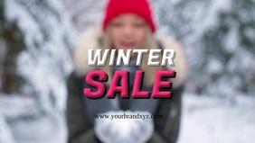 Winter Sale Snow Woman Happy Retail Fashion
