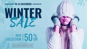 winter sale template Twitch Banner
