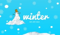 Winter Sale Template Mærke