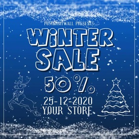 WINTER SALE template digital video