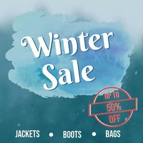 Winter sale video ad