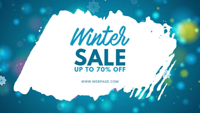 Winter sale video ad for facebook template