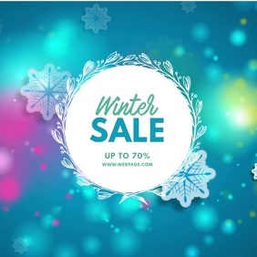 Winter sale video ad for instagram Isikwele (1:1) template