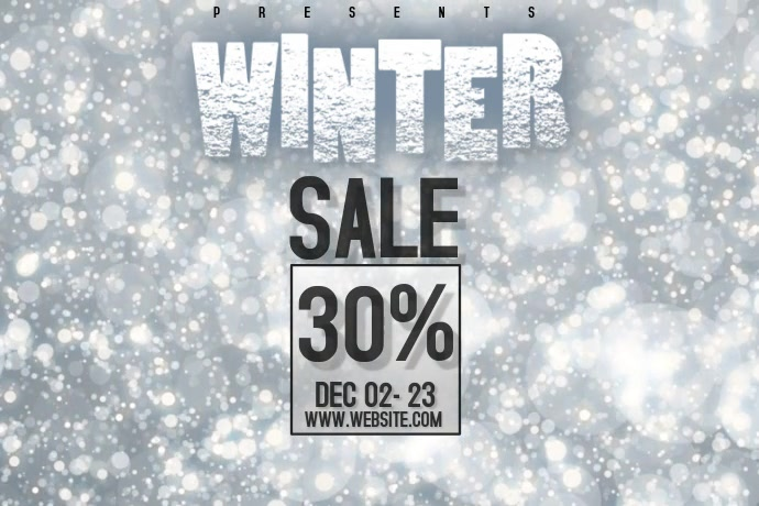 WINTER SALE VIDEO Poster template