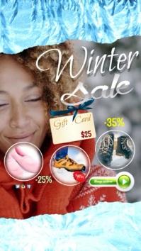 Winter Sale Video Digitale Vertoning (9:16) template