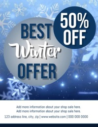 Winter Sale VIDEO DIGITAL Flyer TEMPLATE