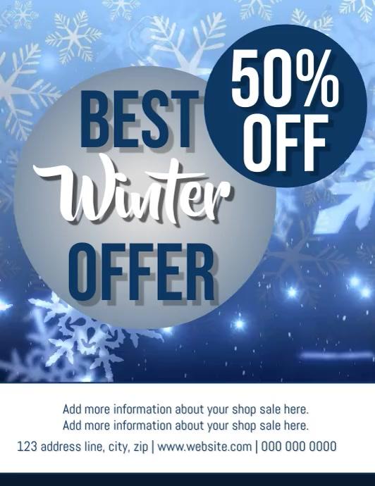 Winter Sale VIDEO DIGITAL Flyer TEMPLATE