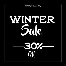 Winter sale video flyer template