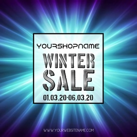 Winter sale Video instagram post advert