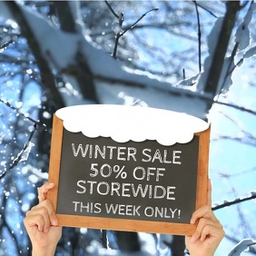 Winter Sale Video Promo Template